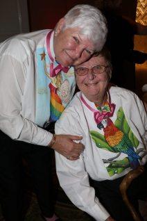 Edie Hambright and Julia Davis