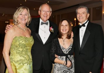 Maxine Makover and Jack Paul with Terri and Phil Wilson dazzle at the event.