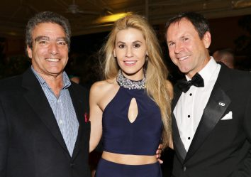 Michael Halpern, Jenna Stauffer, and Todd German attend the gala at Beachside Marriott.