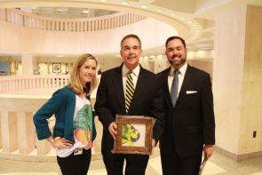 Legislative Aide Erin Muir with Florida CFO Jeff Atwater and his Press Secretary Joel Brown (Joel is also a KWHS graduate).