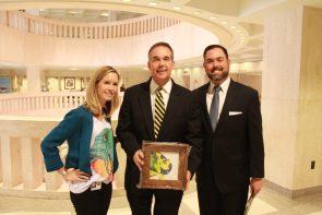 Legislative Aide Erin Muir with Florida CFO Jeff Atwater and his Press Secretary Joel Brown (Joel is also a KWHS graduate).