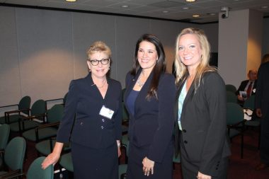Community Bank of South Florida Exec. VP Bette Brown discusses financial matters with Senator Flores and Representative Raschein at Florida Keys Day.