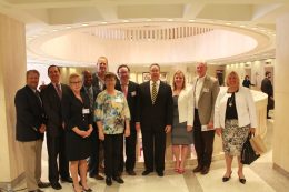 Attorney David Brown, David Ritz, Bette Brown, Islamorada Village Attorney Roget Bryant, Dan Leben, Islamorada Mayor Deb Gillis, Dr. Randy Fink, CFO Jeff Atwater, Audra Hill, Mariners CEO Rick Freeburg and County Mayor Heather Carruthers participated with more than 70 other Monroe County ambassadors at Wednesday's Florida Keys Day in Tallahassee.