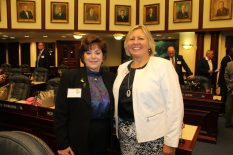 Key West Chamber of Commerce Executive VP. Virginia Panico and Monroe County Mayor Heather Carruthers provide Monroe County with plenty of firepower at Florida Keys Day.