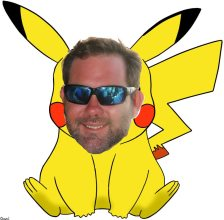 Pokemoning and bar hopping on Duval with Pikachu, a.k.a. Chase Grimes.