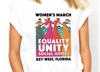 Women's March on Duval - A person in a white shirt - T-shirt