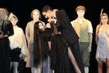 Jay Walters (Gomez) tangos with Shannon Pitchford (Morticia) in the last number.