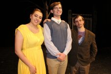 Normal or awkward? The Beineke family is played by Mackenzie Helms, left, Aaron Tipsword and Josh Brown.