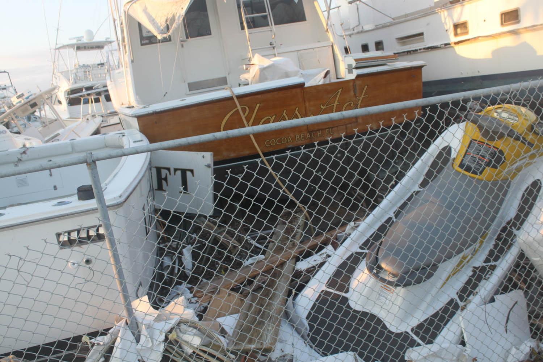 The boats were tossed like toys at Driftwood Marina near the Coco Plum neighborhood of Marathon.