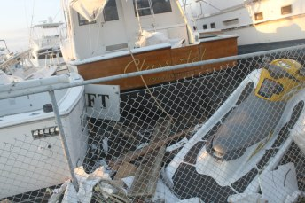 The boats were tossed like toys at Driftwood Marina near the Coco Plum neighborhood of Marathon.