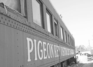 Pigeon Key train at Crane Point