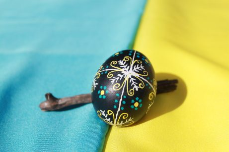 """Pansky"" by Jessie Vandervoort Wax and dye resistant technique from the Ukraine."