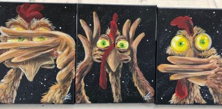 Lance Berry paints Key West - A group of different types of food - Wyland Gallery of the Florida Keys