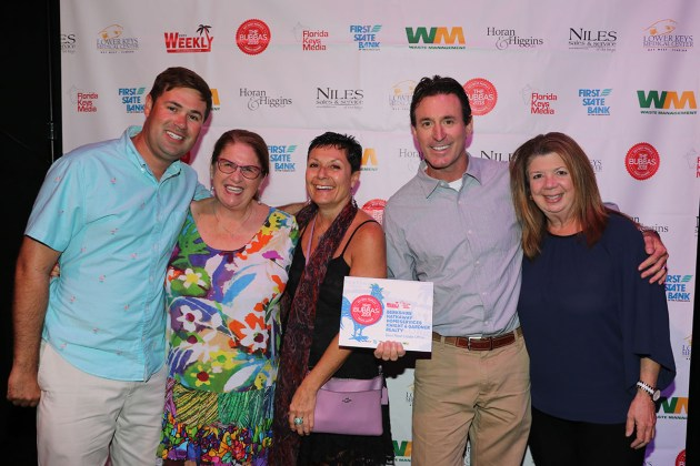 And the Winners Are! - A group of people posing for a photo - Key West Theater