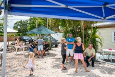 - Coastal Realty held a fish fry for those who helped out and invites those to come trade in their own cleaned debris in return for some fresh fish as thanks for helping the cause