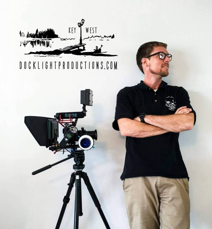 Local Key West Film Maker's Journey Offers Hope and Inspiration - A man standing next to a tripod - Filmmaking