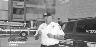 Can you hear me now? Marathon fire chief enters show business - A man standing in front of a bus - Luxury vehicle