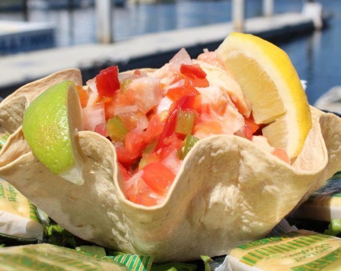 Dock to dinner – Key Largo Fisheries Backyard Café a delightful experience - A close up of food - Key Largo Fisheries Backyard Cafe