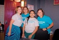 First State Bank has some of the best volunteers in the community: Nancy Torrijos Jenifer D-Rodriguez, Nicolette Alex-Sands and Holly Waingrow