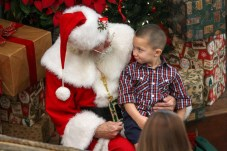 Daniel, of Miami, meets with Santa.
