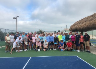 KCB pickleball players raise funds for new courts - A group of people on a court - Florida Keys