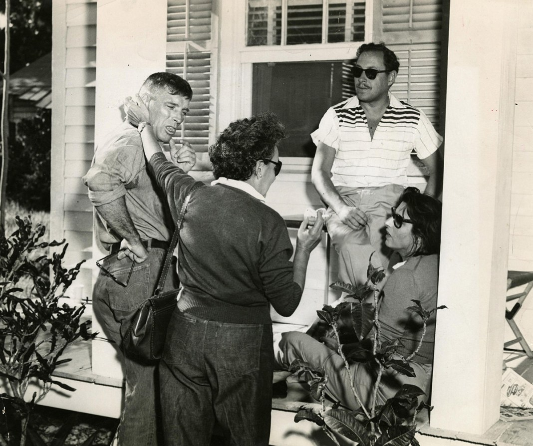 Celebrating Tennessee Williams: Events will Offer Cocktails, Movies, Books and More! - Tennessee Williams et al. standing in front of a building - Tennessee Williams