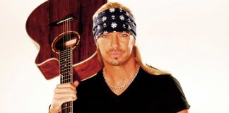 """Bret Michaels """"Taking it to Another Level"""" for Upcoming Key West Show - Bret Michaels holding a guitar - Bret Michaels"""