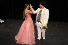 Chris Hernandez and Lina Coole share a dance as they prepare for the upcoming productions, which begin March 29.