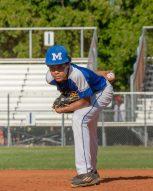 Marathon High baseball team begins season - A baseball player throwing a ball - Pitcher