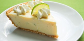 In this week's Key Lime Pie Hole… David Sloan solves 100-Year Mystery! - A piece of cake on a plate - Key lime pie