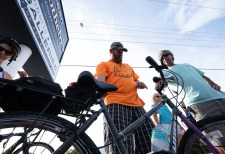 Cyclists go 125 miles to support children's shelter - A person riding on the back of a bicycle - Road bicycle
