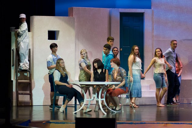Mamma Mia' comes alive at MHS this weekend - A group of people posing for a picture - Musical theatre