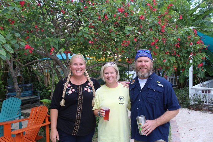 Drink Beer for a Great Cause (and it's really tasty beer from Florida Keys Brewing Co!) - A couple of people posing for the camera - Florida Keys Brewing Co
