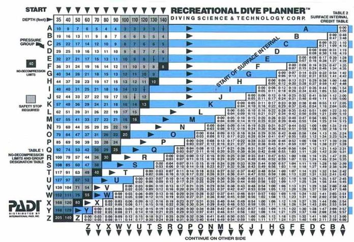Learning to Dive Part I - A screenshot of a cell phone - Recreational Dive Planner
