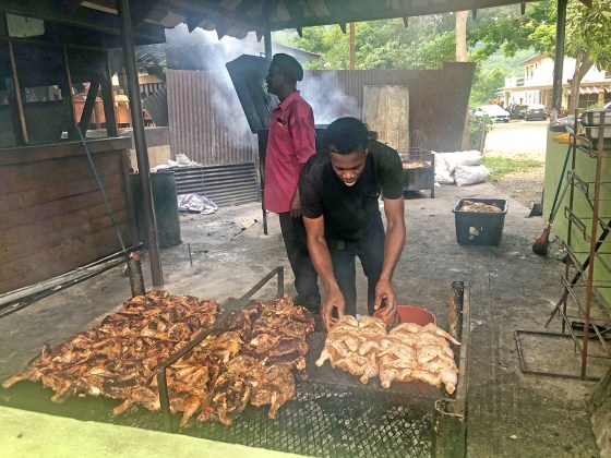 Jamaica in 24 Hours: An island adventure in a day - A man that is cooking some food - Churrasco