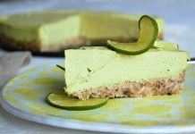 The History of Green Key Lime Pie - A piece of cake on a plate - Key lime pie