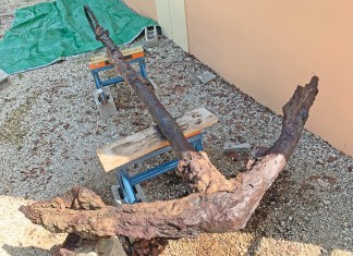 Information being sought on Fishermen's anchor - Florida Keys