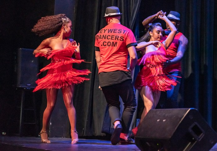 90 miles closer – Havana Nights Heats up the Stage at Key West Theater - A man and a woman standing on a stage - Rolando Rojas