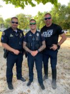 National Night Out – Key West Celebrates and Socializes with First Responders - A group of people posing for the camera - Army officer