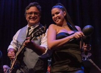 90 miles closer – Havana Nights Heats up the Stage at Key West Theater - A man and a woman sitting on a stage - Florida Keys