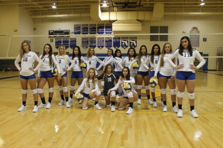 The volleyball team is set to go with new attitude, new uniforms and a new gym floor.