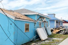 An Account from the Ground – What is left behind after Dorian - A house that is parked on the side of a building - House