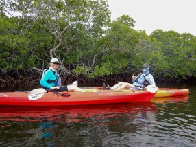 CELEBRATING CONSERVATION DECK: REEF Fest brings education, adventure - A man riding on the back of a red boat on the water - Sea kayak