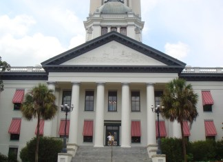 A large white building - Florida State Capitol