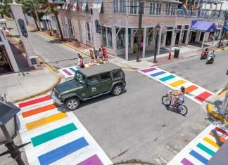 - A group of people on a sidewalk - Florida Keys