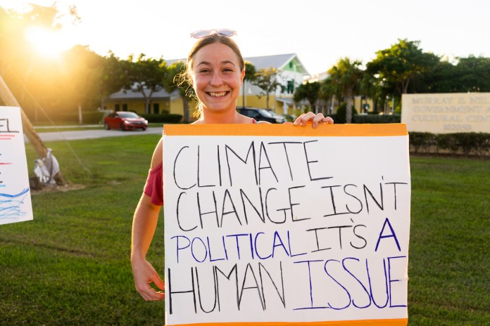 "Ciera Cox, 24, started ""FFF Tavernier,"" or the Fridays for Future Tavernier chapter, after learning more about the climate crisis and how it will affect her generation and those younger than her. She implores others to join, saying, ""Come after you work, or if you're a high schooler, come here because you can't protest on school grounds. Come have your voice heard with us."" TIFFANY DUONG/Keys Weekly"
