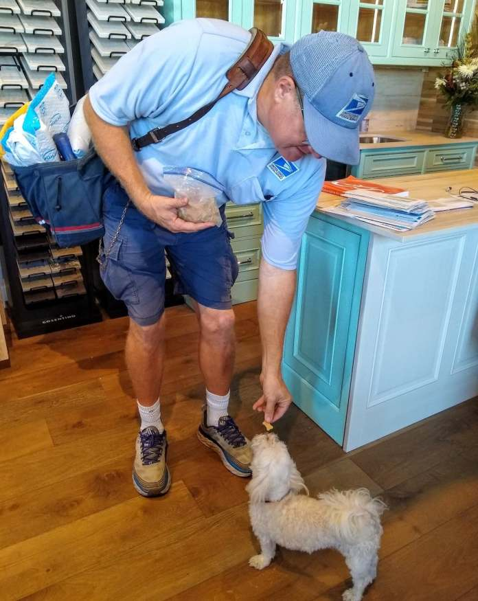 Doing more with less – Tough year for holiday carriers - A man standing next to a dog - Dog