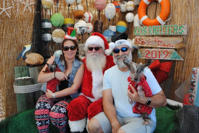 A Doggone Good Time - A group of stuffed animals sitting next to a person - Christmas decoration