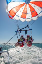 GLIDING INTO SEASON LIKE … - A parachute with a body of water - Parasailing