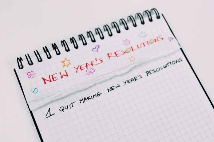 A case against New Year's resolutions - A close up of a piece of paper - New Year's resolution
